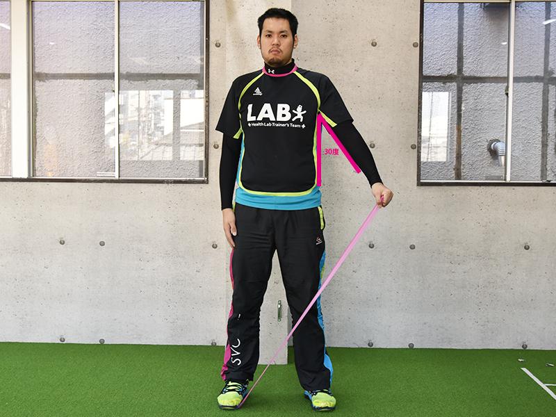 棘上筋トレーニング肩30度