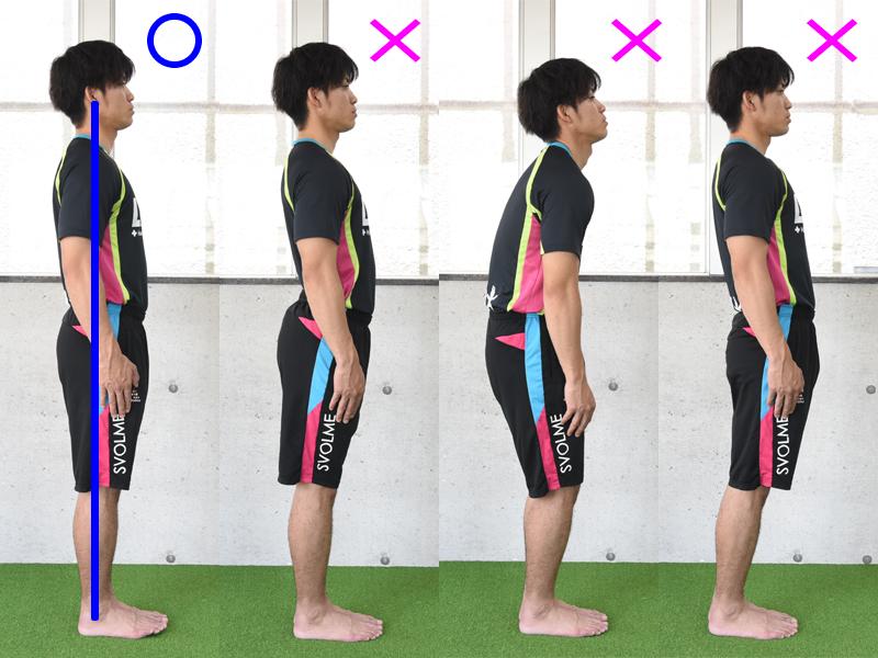 正しい姿勢と不良姿勢の違い