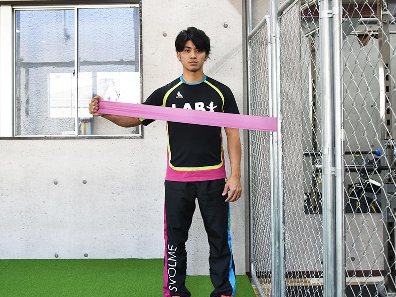 棘下筋トレーニング悪い姿勢肘離れすぎ